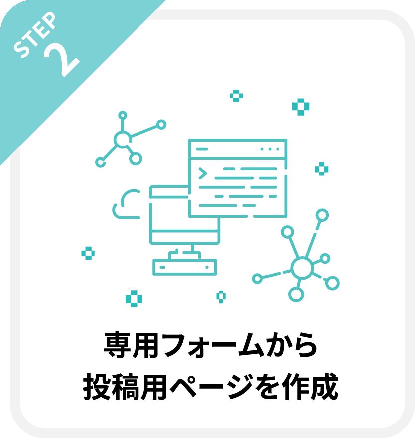 STEP2.専用フォームから投稿用ページを作成!